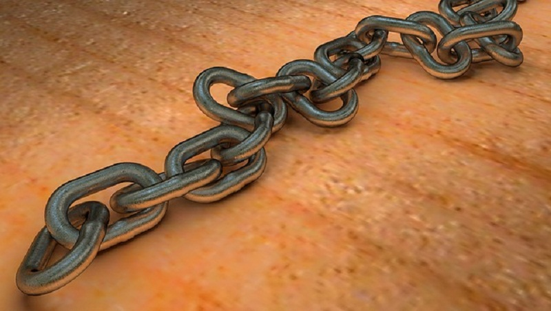 This is an image of a metal chain.
