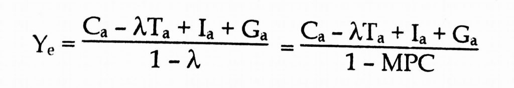 Equilibrium equation