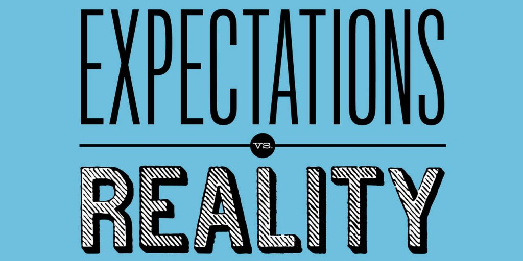 Expectations vs. Reality: Reality is taken as negative