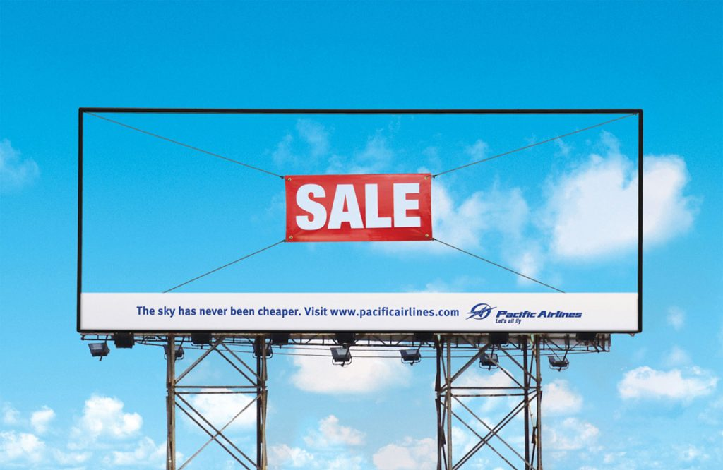 """Words like """"Sale attract attention"""