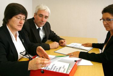 selection team checking applications of the candidates