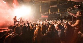 People in a metal concert