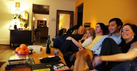 People watching Television with concentration, Priming Theory