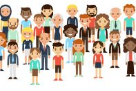Cartoon people of various nationalities